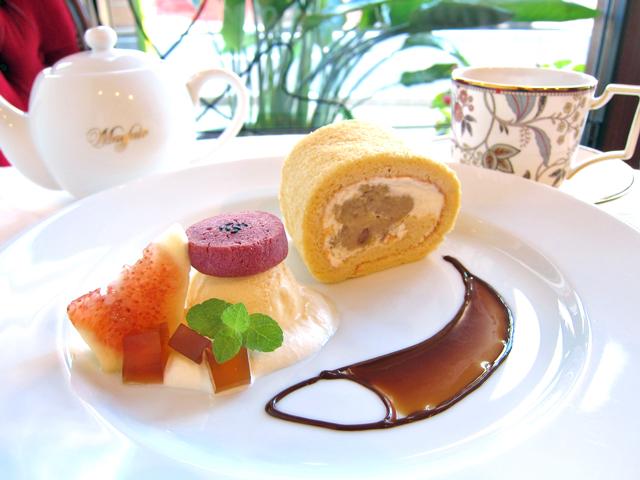 新潟の新栗を使ったロールケーキ