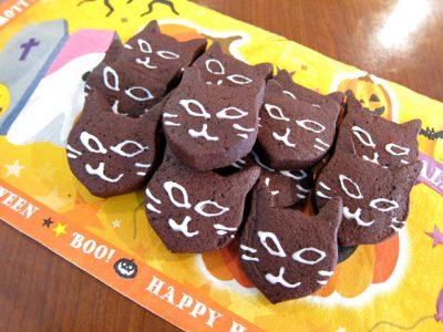 ハロウィンの黒猫クッキー