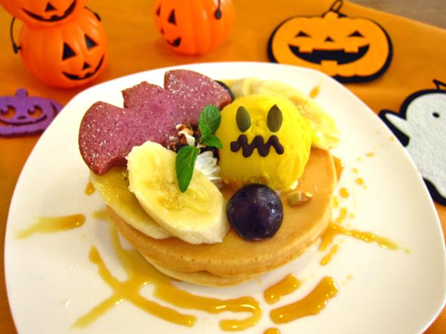 新潟市のフェルマータカフェでハロウィンのパンケーキ