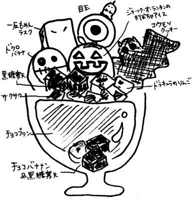 新潟市でハロウィンのパフェをどうぞ