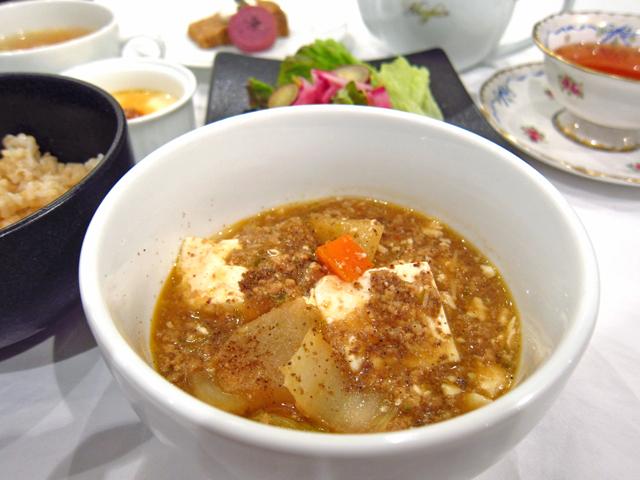 新潟市で玄米ランチの麻婆豆腐