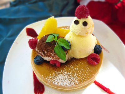 フェルマータカフェ(新潟市)のクリスマスパンケーキ