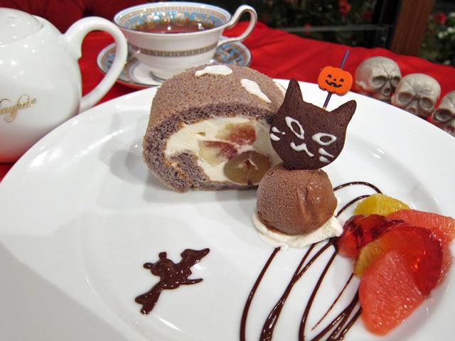 ハロウィンのロールケーキ